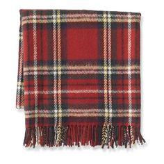Tartan Wool Throw with Fringe, Wilkes (170 CAD) ❤ liked on Polyvore featuring home, bed & bath, bedding, blankets, woven throw, wool throw blanket, woven wool blanket, fringe blanket and tartan wool blanket