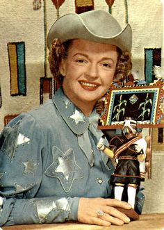 Dale Evans in Uvalde, Texas. #vintage #cowgirls #actresses