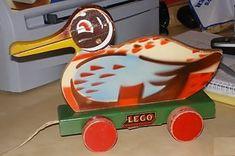 Houten eend van LEGO
