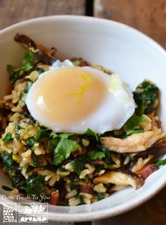 Chard and Shiitake Mushroom Fried Rice - This healthier take on fried rice is delicious and filling, not to mention a fantastic way to eat chard.