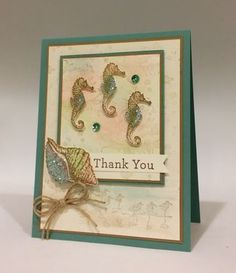 Ann Schach Stampin' Up! card with By the Tide stamp set