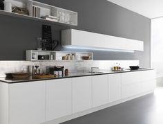 Lacquered wooden kitchen Y Composition 02 by Zampieri Cucine design Pierangelo Sciuto