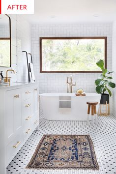 to Be Amazed by These 13 Mosaic Bathroom Floor Tile Ideas Black and white hexagon shaped mosaic bathroom tile.Black and white hexagon shaped mosaic bathroom tile. Bad Inspiration, Bathroom Inspiration, Bathroom Inspo, Large Bathrooms, Small Bathroom, 1950s Bathroom, Luxury Bathrooms, Black And White Bathroom Ideas, White Mosaic Bathroom