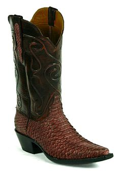 4c0763c86b Snake Snakeskin Boots Style 634 Custom-Made by Black Jack Boots