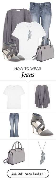 ee5b956ef love the items here, except the heels. And I hate holes or tears in my  jeans. Grey, white, blue is a good basic color scheme. The open  cardigan/jacket is ...