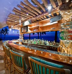 Incredible Cliff House Property On Big Island, Hawaii Outdoor Restaurant, House Restaurant, Restaurant Design, Pool Bar, Patio Bar, Big Island Hawaii, Tiki Bar Decor, Cliff House, House Property