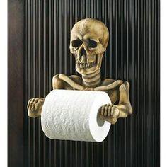Skelleton toilet paper holder. I would use year round.