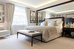 Luxury hotel standard apartment - master bedroom. © Taylor Howes Designs