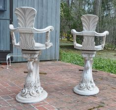 Enkeboll Carved Wooden Bar Stools
