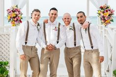Real Photos Destination Wedding in Ocho Rios, Jamaica Destination Wedding Groomsmen, Beach Wedding Men, Jamaica Wedding, Summer Wedding Suits, Groom And Groomsmen Pictures, Bridesmaids And Groomsmen, Wedding Bridesmaids, Ocho Rios, Lily Bouquet Wedding