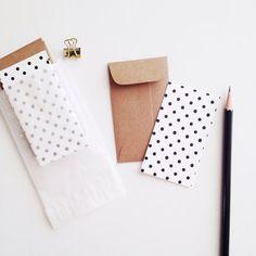 The Stationary Boutique / POLKA DOT Mini Flat Cards & Minilopes