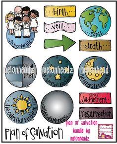 Melonheadz LDS illustrating: Plan of Salvation bundle by melonheadz