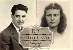 DIY Portrait Wall Hanging http://cmongetcrafty.com/diy-portrait-wall-hangings/