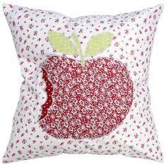 Patchwork Apple Cushion   DotComGiftShop
