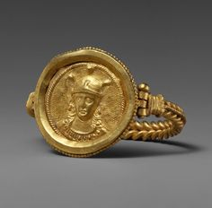 Bracelet with Bust of Roma. Date: 400–450. Geography: Made in Rome. Culture: Byzantine. Medium: Gold. | © 2000–2015 The Metropolitan Museum of Art.