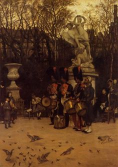 TICMUSart: Beating the Retreat in the Tuilleries Gardens - James Tissot (1867) (I.M.)