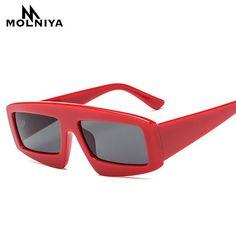 MOLNIYA Red Small Rectangle Sunglasses Women Black Leopard Designer Female Square Cheap Sun Glasses for Women 2018 uv400