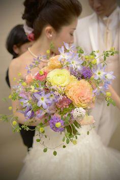 新郎新婦様からのメール 東郷記念館さまへのブーケ、本日、結婚式がという魔法についての画像:一会 ウエディングの花