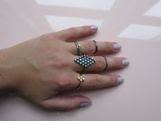 Romance No Thanks-ring in oxidized sterling silver and in gold plated