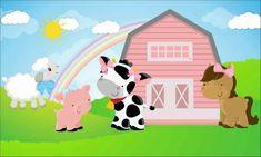 Cow Birthday Parties, Farm Birthday, Baby First Birthday, Girl Background, Birthday Background, Horse Nursery, Powerpoint Template Free, Farm Party, Fiesta Party
