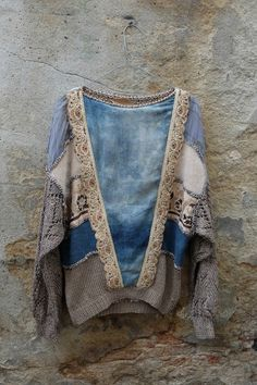 Mixed material cool sweater