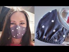 DIY How to sew a face mask Jak uszyć ochronną maskę na twarz tutorial Sewing Hacks, Sewing Tutorials, Sewing Patterns, Sewing Projects, Diy Mask, Diy Face Mask, Face Masks, Sewing Pockets, Creation Couture