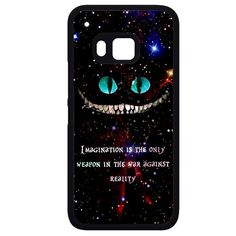 Alice In Wonderland Cheshire Cat QuotePhonecase Cover Case For HTC One M7 HTC One M8 HTC One M9 HTC ONe X