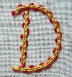 Great for crazy Quilt.... Chain Stitch used in Hand Embroidery