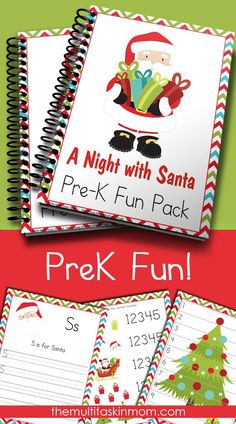 A Night With Santa PreK Fun Pack is perfect for your littles to use this holiday season