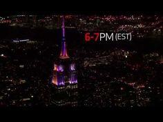 Verizon #WhosGonnaWin Super Bowl XVIII Light Show