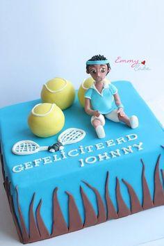 tennis cake Cake by emmylovescake Tennis Cake, Tennis Party, 22nd Birthday, Birthday Ideas, Birthday Cake, Cookie Decorating, Decorating Ideas, Sugar Craft, Fondant Figures