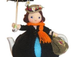 Lovely Mary POPPINS Tea Cosy PDF Email Knit PATTERN