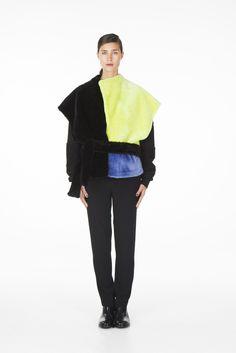 ONAR Ipek vest black/acid yellow/lavender via ONAR Studios. Click on the image to see more!