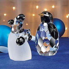 Crystal Baby Penguins   Glass Penguins