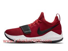 best sneakers 0edd5 aca46 Nike PG 1 University Red Chaussures de BasketBall Pas Cher Pour Homme Rouge  Noir 878628 602