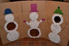 En maar gooien met de sneeuwballen (Bewegingshoek)