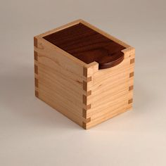 Small Box Black Walnut and Maple Keepsake Box by JMCraftworks