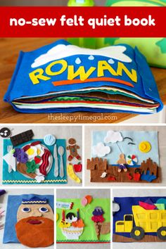Page inspiration + tips for making a no-sew felt quiet book | The Sleepy Time Gal