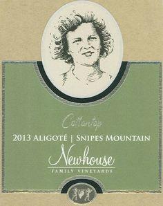 #NewhouseFamilyVineyards 2013 Cottontop Aligoté, Snipes Mountain, $36 - wine label design by Sara Nelson Design