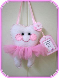 Tooth Fairy Pillow - Ballerina -Cute H/made **Lost Tooth Goes In Back Pocket** in Toys, Hobbies, Preschool Toys & Pretend Play, Other Pretend Play | eBay