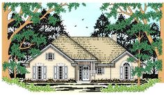 Florida Traditional House Plan 79232 Elevation