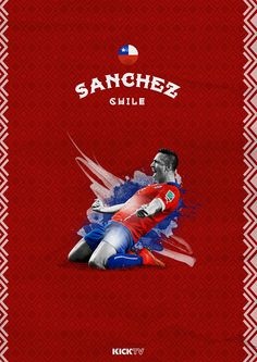 Copa America 2015 on Behance / Alexis Sánchez / Chile / La Roja Football Love, Retro Football, Arsenal Football, Arsenal Fc, Good Soccer Players, Football Players, Fifa, Alexis Sanchez Arsenal, Kylie Jenner