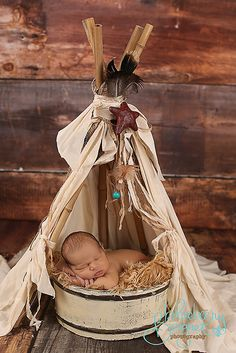 """Woodsy Wonders Props & More — """"Vintage"""" looking and Whimsical Newborn Prop Teepee with log Poles Newborn Poses, Newborn Shoot, Newborn Baby Photography, Newborn Photo Props, Photography Props, Children Photography, Newborns, Vintage Photography, Newborn Pictures"""