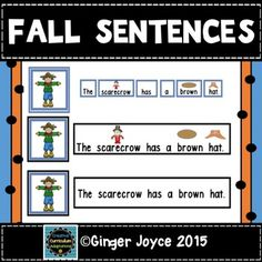 Fall Sentences with matching pictures is a fun way to engage beginning readers with fall vocabulary and sight words. This product includes three levels of differentiation:  *making sentences with words containing pictures/text*sentences with pictures and text*sight word sentences with text only.