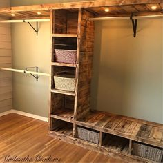 Gorgeous custom walk-in closet ideas. Although this is informative it was not what I was looking for... however the picture is exactly what I am looking for! Love how it looks like it was made with barnwood!