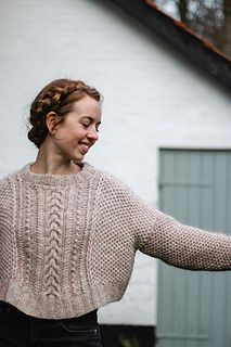 Ravelry: Favo Sweater pattern by Fiber Tales Sweater Knitting Patterns, Hand Knitted Sweaters, Textiles, How To Purl Knit, Garter Stitch, Sweater Weather, Pulls, Long Sleeve Sweater, Diy Clothes