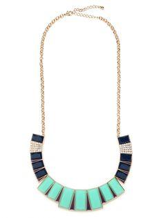 art deco bib necklace @Nina Garcia for bauble bar $34