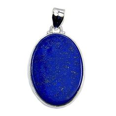 Seductive Sterling Silver Lapis Lazuli Pendant