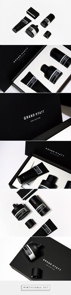 packaging inspiration Grand Hyatt Packaging: How Much Activity is Too Much? Graphic Design Branding, Label Design, Box Design, Identity Design, Package Design, Black Packaging, Bottle Packaging, Print Packaging, Design Packaging