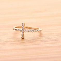 Sideways Cross Ring